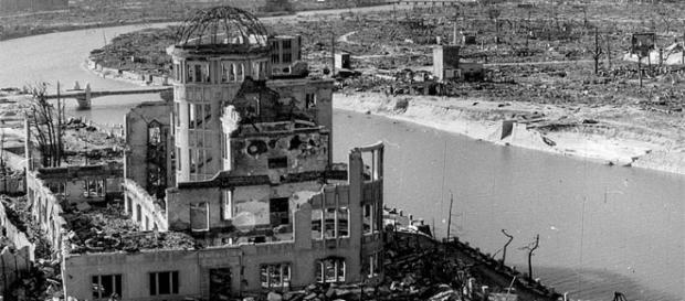 Casi toda Hiroshima arrasada después de la bomba.