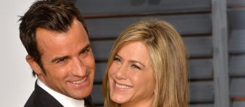 Justin Theroux and Jennifer Aniston at the Oscar's