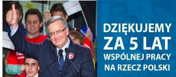 """Były prezydent B. Komorowski usłyszał """"dziękujemy"""""""