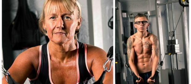 Mãe e filho optaram por vegetais e exercícios
