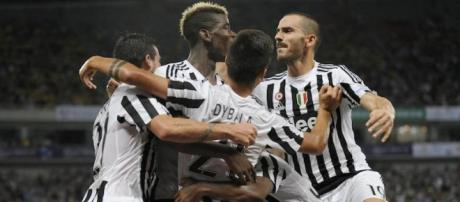 Esultanza bianconera contro la Lazio