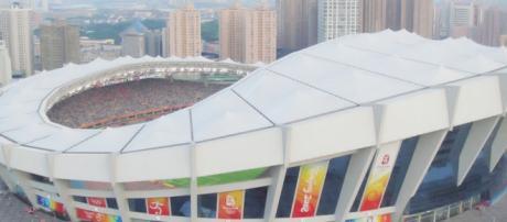 Lo stadio della Supercoppa a Shangai,