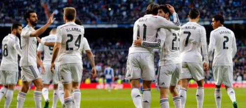 Jugadores celebrando un gol la temporada pasada.