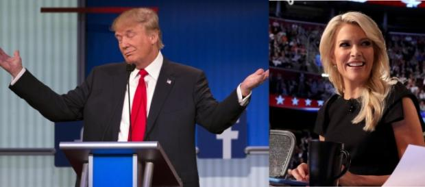 Donald Trump e la moderatrice Megyn Kelly
