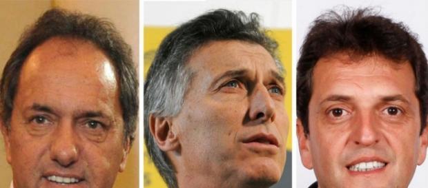 Scioli (38,5%), Macri (24,3%), Massa (14,23%)