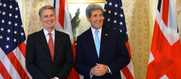 Hammond (left) with John Kerry last year.