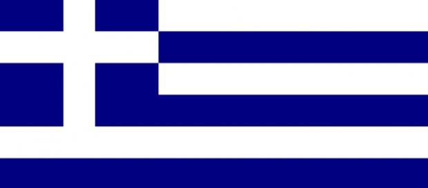 La bandera de Grecia, país en crisis