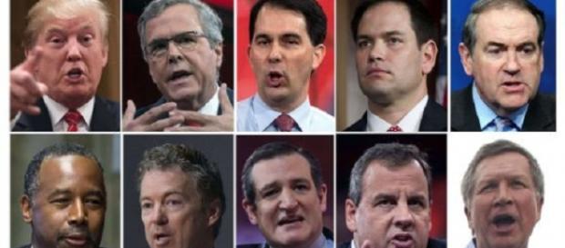 Los diez candidatos republicanos a la Casa Blanca.