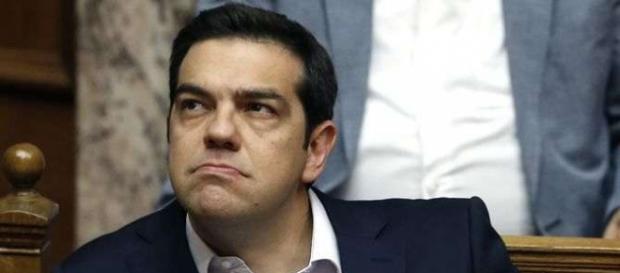 O 1.º Ministro grego Alexis Tsipras em Bruxelas.