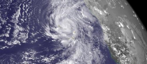 Imagem de satélite do Furacão Fred em Cabo Verde