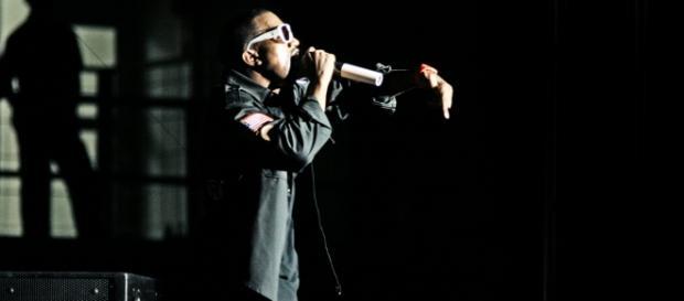Kanye West en uno de sus conciertos