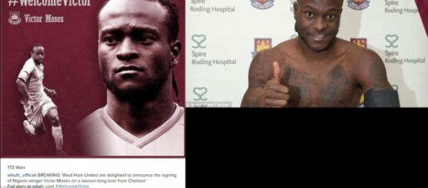 West Ham confirms the arrival of Moses