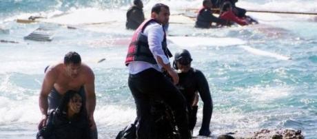 Foto: BBC. Bote encalla en Grecia en abril.