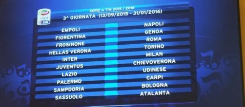 Il programma della 3^ giornata si Serie A