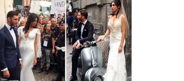 Belen Rodriguez e Stefano sposi a Napoli.