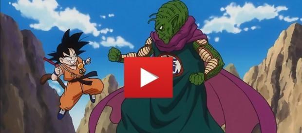Goku luchando contra Piccolo Daimaku