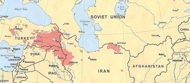 Obszar zamieszkiwany przez Kurdów