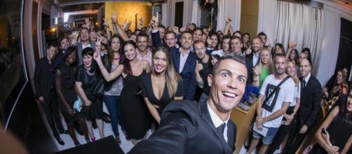 Cristiano Ronaldo no lançamento do seu perfume