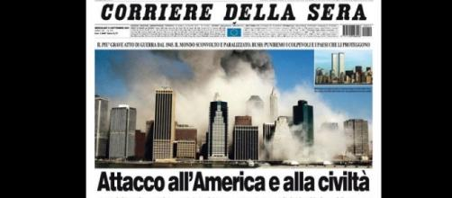 La pagina del Corriere della Sera del 12 settembre