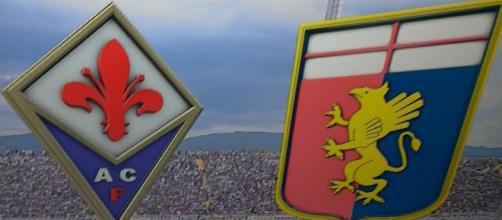 I simboli di Fiorentina e Genoa