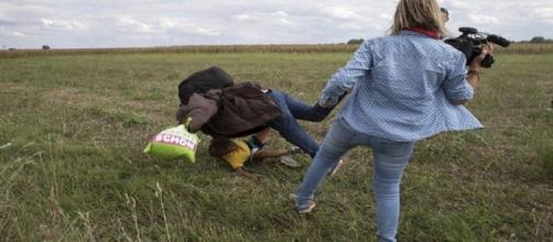 Petra Lazlo, giornalista accanita sui migranti