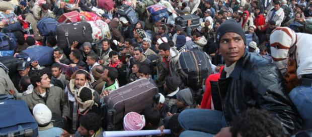 Milhões de refugiados estão entrando na Europa.
