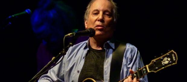 Paul Simon during a performance in 2012