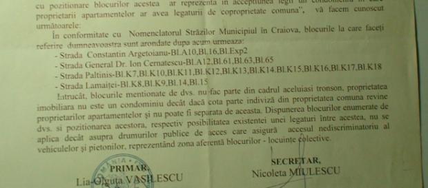 Primaria Craiova,răspuns contradictoriu realității