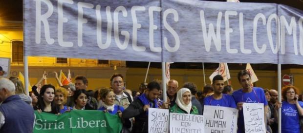 La marcia milanese poco prima della partenza.