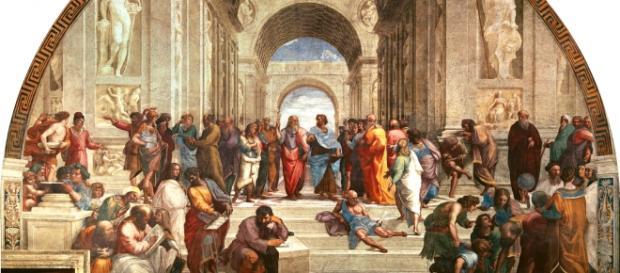 Platon i Arystoteles na obrazie Rafaela Santi.