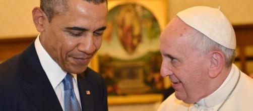 Barack Obama e Papa Francesco a colloquio