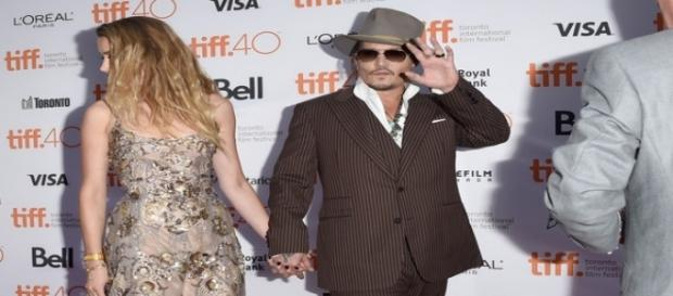Johnny Depp e la moglie a Toronto