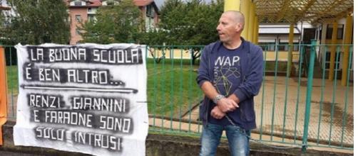 La protesta del papà della bambina disabile