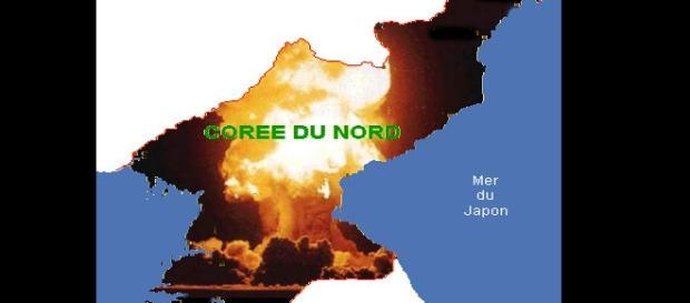 La carte de la Corée du Nord, un pays de l'Asie.