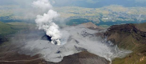 Monte Aso es el volcán activo más grande de Japón