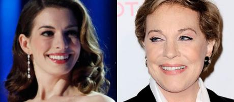 Anne Hathaway y Julie Andrews (Mary Poppins)