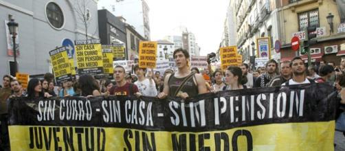 Jóvenes en precario en España.