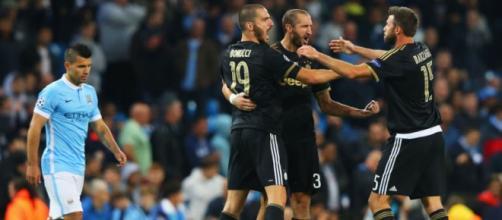 Juventus celebrating their win.