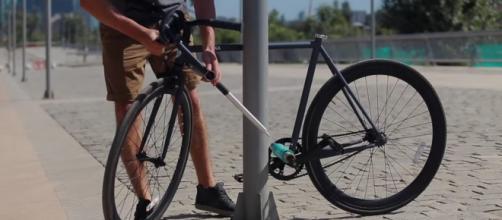 Yerka, a bicicleta-cadeado/Divulgação.