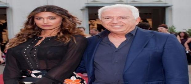 Belen Rodriguez e Paul Marciano di Guess