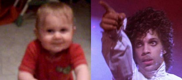 """El pequeño que baila """"Let's go crazy"""" y Prince"""