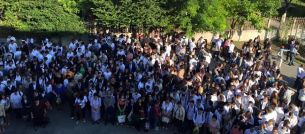 Elevi din Galați în prima lor zi de școală