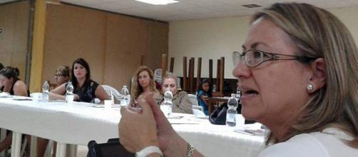 Yolanda Besteiro, en el encuentro en Ceuta.