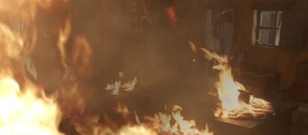 L'incendio a casa di Alfonso e Emilia