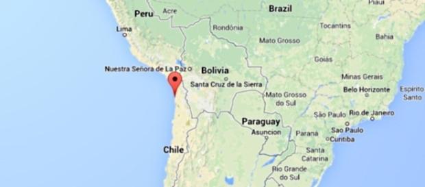 La zona vicino l'epicentro del terremoto in Cile