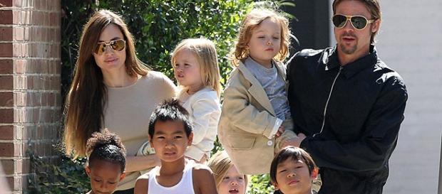Os seis filhos do casal Angelina e Brad.