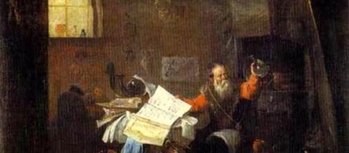 El alquimista, oleo de David Teniers