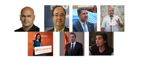 Los 7 candidatos del debate de '8 al dia' de 8TV