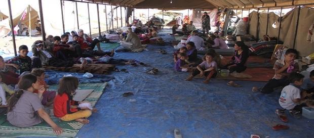 Refugiados sirios a la espara de asil
