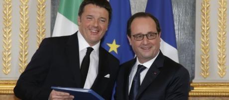 Francois Hollande et matteo Renzi
